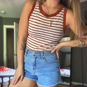 3/$20 ✨ F21 Rust striped tank